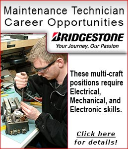Maintenance Technician Career Opportunities
