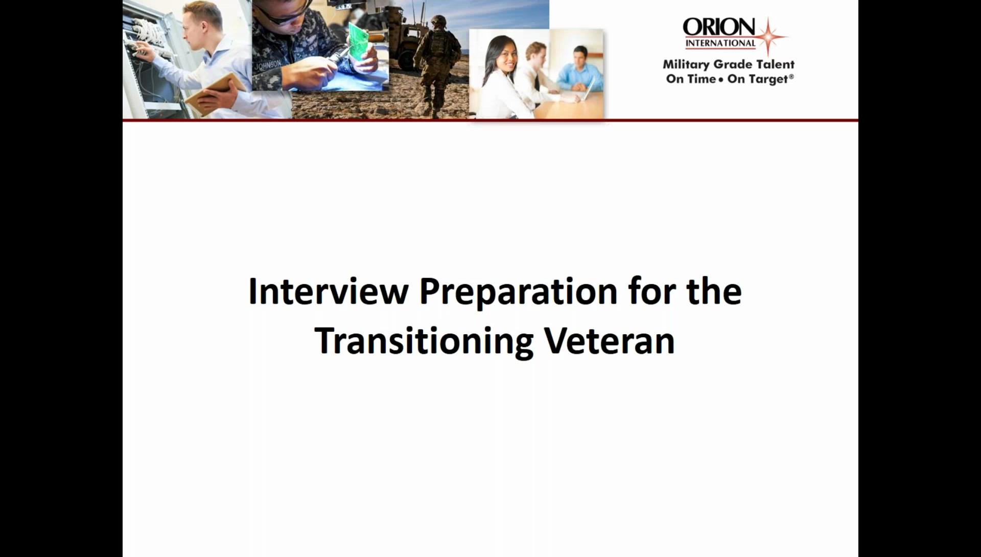 interview preparation webinar