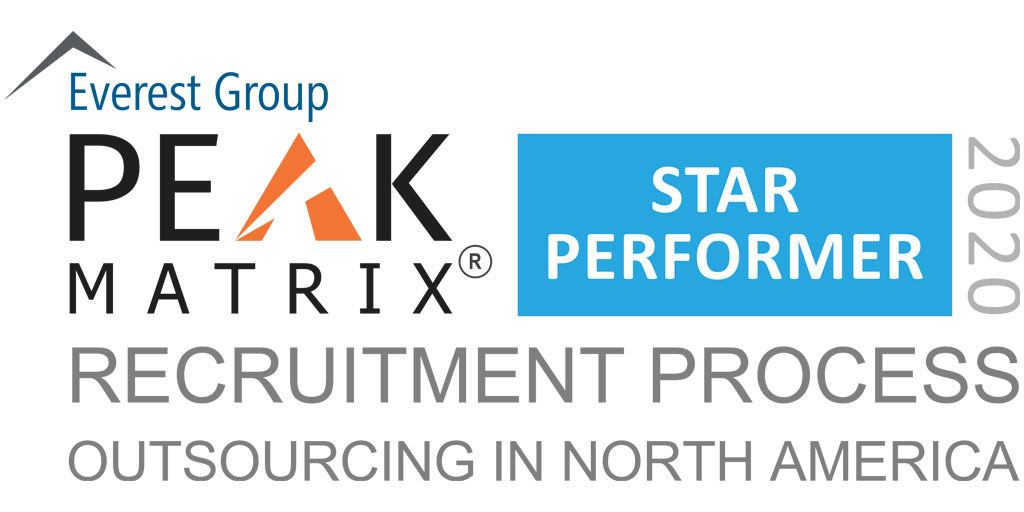 RPO in North Americ 2020 - PEAK Matrix Award Logo - Star Performer