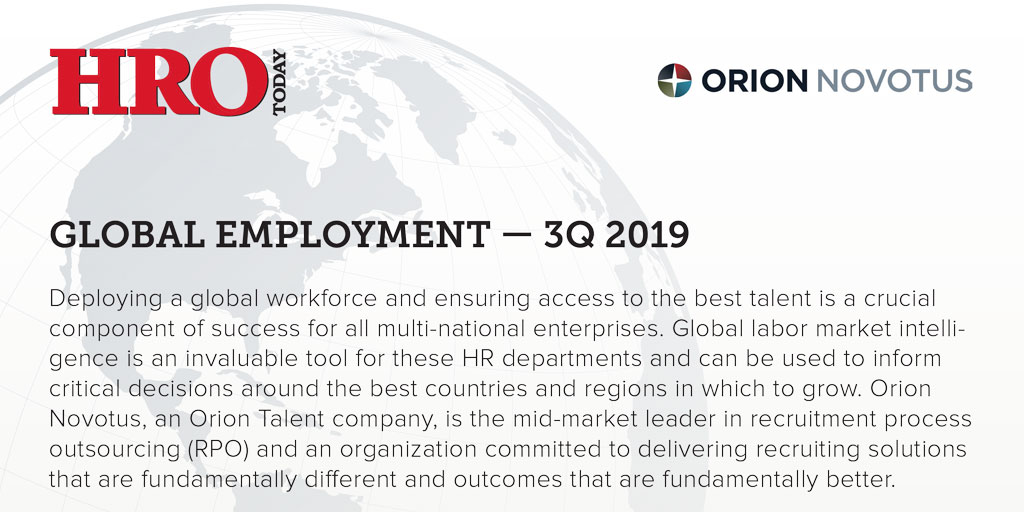 GLOBAL EMPLOYMENT - 3Q 2019 Report from Orion Novotus and HRO Today