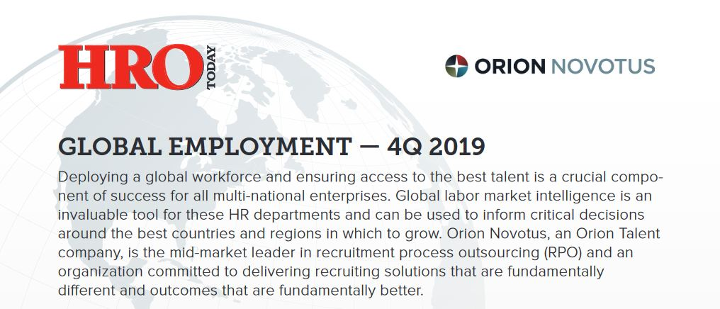 GLOBAL EMPLOYMENT - 4Q 2019 Report from Orion Novotus and HRO Today
