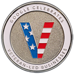Orion Talent recognized by Google as a Veteran Led Business. #GrowWithGoogle #ChallengeCoin
