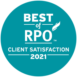 Best of RPO - Client Satisfaction 2021. Click to learn more. #BestofRPO #ServiceExcellence