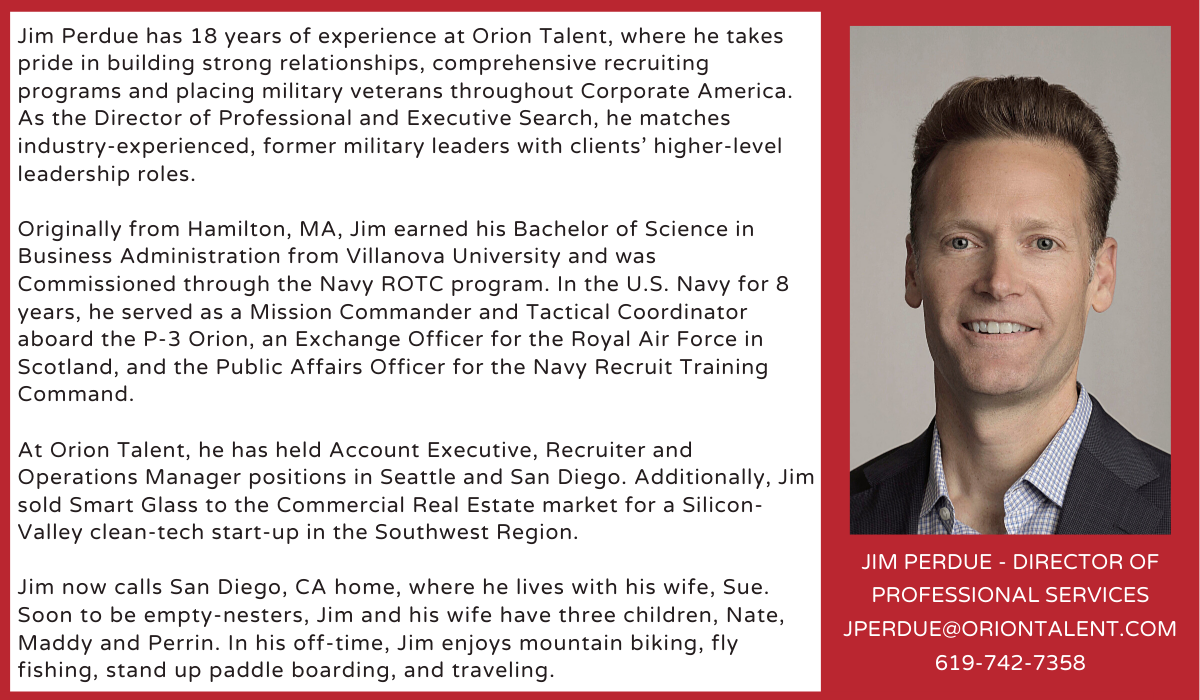 Meet Orion's Professional Search Expert, Jim Perdue